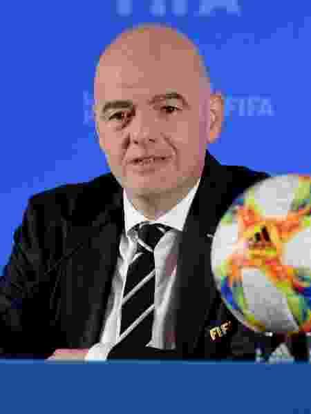 Gianni Infantino, presidente da Fifa, e que adiou o Mundial de Clubes para fevereiro - VCG/VCG via Getty Images