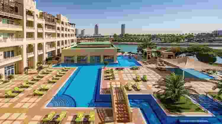 Piscina do hotel do Flamengo em Doha - Divulgação/Hyatt