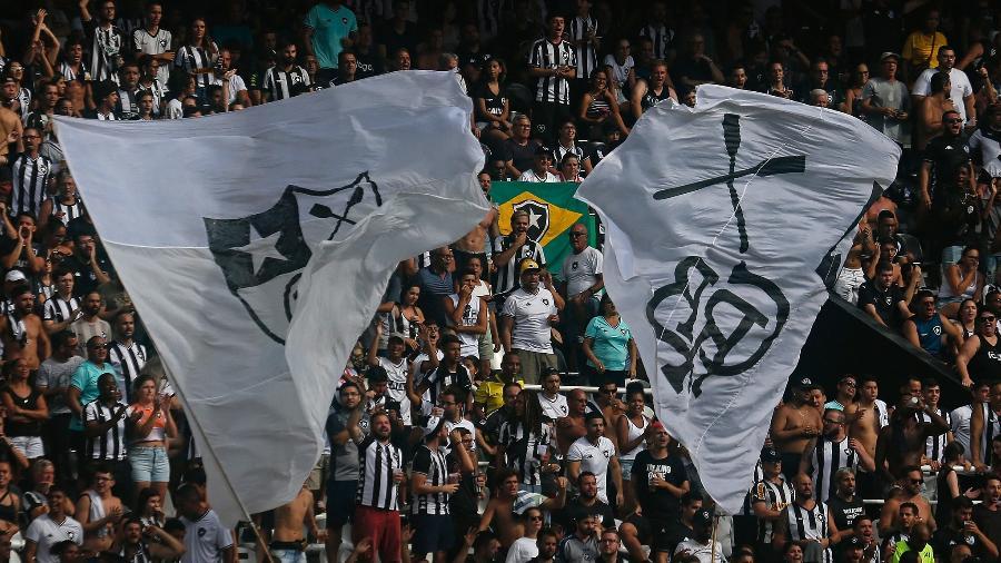 Torcida do Botafogo em jogo no Nilton Santos - Vitor Silva/Botafogo.