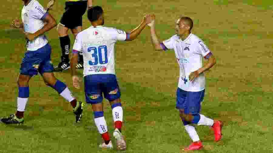 Nino Paraíba comemora gol do Bahia contra o Naútico, pela Copa do Nordeste - Divulgação/Bahia