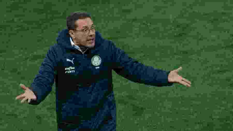 Vanderlei Luxemburgo durante jogo do Palmeiras contra o Corinthians - Marcello Zambrana/AGIF