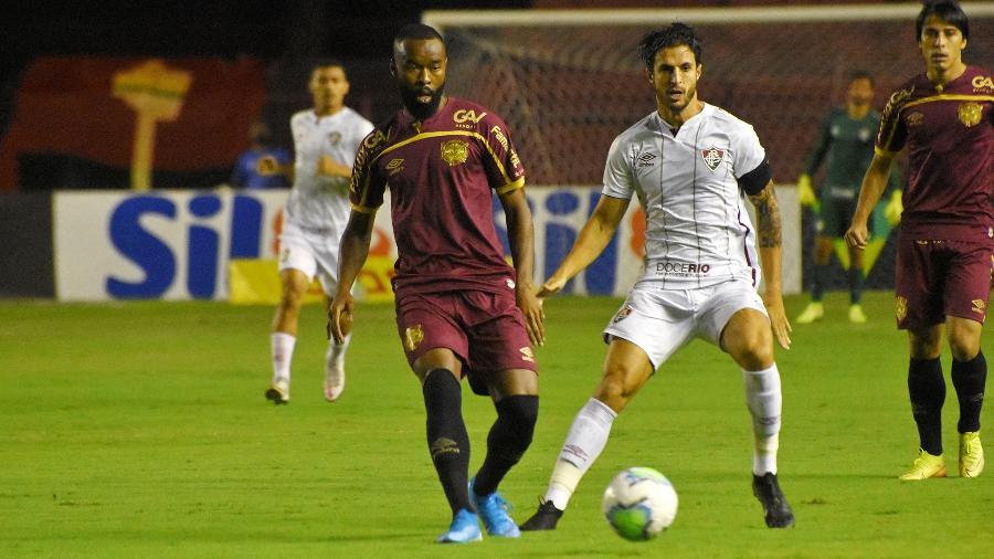 Jogador do São Paulo, Hudson terá vínculo de empréstimo com o Fluminense prorrogado no mercado da bola - Mailson Santana/Fluminense FC