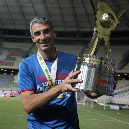 Técnico do Fortaleza, Vojvoda conquistou primeiro título da carreira - Leonardo Moreira /FortalezaEC