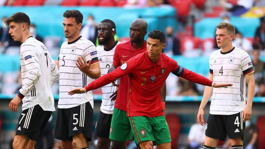 Cristiano Ronaldo durante a partida entre Alemanha e Portugal na Eurocopa - Pool via REUTERS
