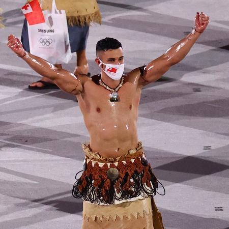Pita Taufatofua, o Besuntado de Tonga: uma inspiração de folia - Mike Blake/Reuters
