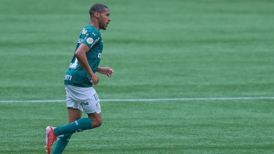 Wesley comemora gol marcado contra o Flamengo - Marcello Zambrana/AGIF