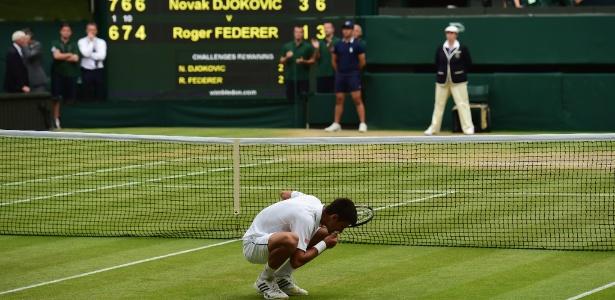 Djokovic venceu as últimas duas finais na grama contra Roger Federer  - Shaun Botterill/Getty Images