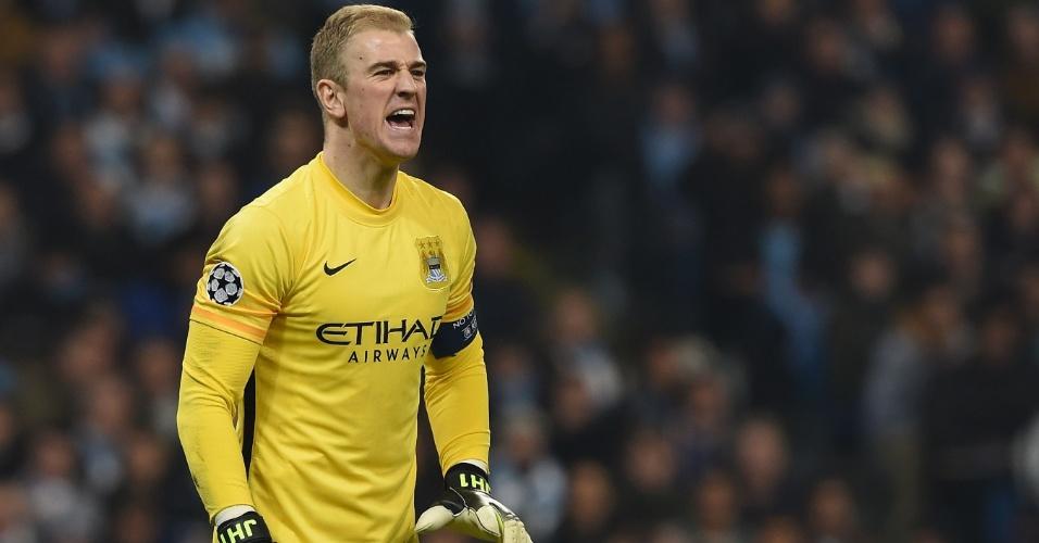 Joe Hart cobra defensores após falha do Manchester City contra o PSG pela Liga dos Campeões