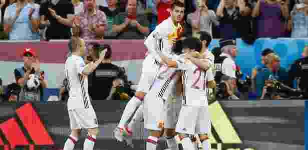 Morata marcou o primeiro gol da partida Espanha e Croácia, nesta quarta - Sergio Pérez/Reuters