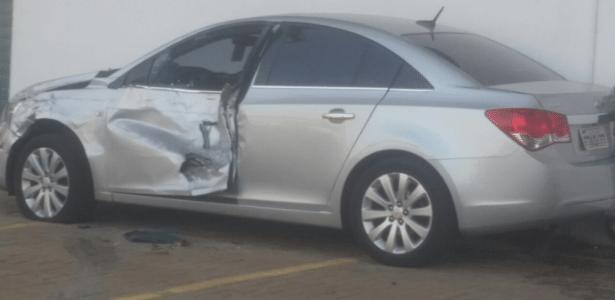 Carro da presidência do Atlético-MG foi atingido por ônibus da Polícia Militar de Minas Gerais