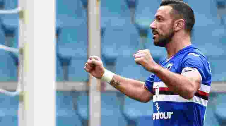 Quagliarella comemora gol marcado contra o Cagliari - Paolo Rattini/Getty Images - Paolo Rattini/Getty Images