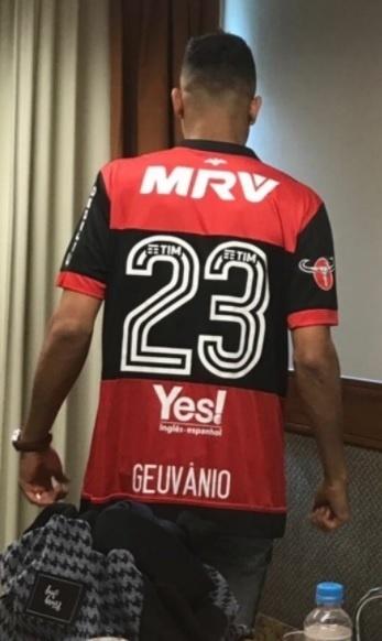 Geuvânio vestiu a camisa 23 do Flamengo