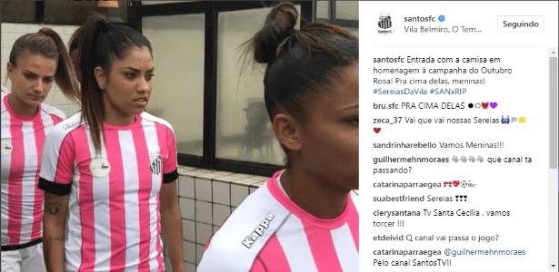 Santos usa uniforme listrado de rosa em homenagem ao Outubro Rosa