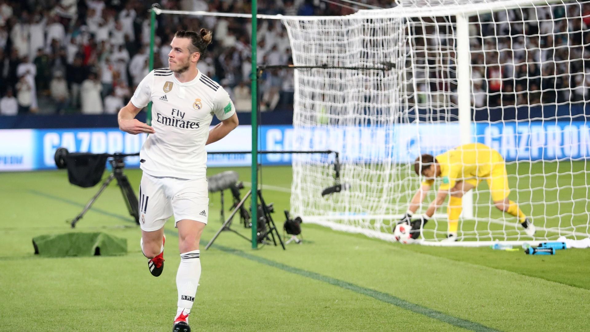 Gareth Bale comemora gol diante do Kashima Antlers nas semifinais do Mundial de Clubes 2018