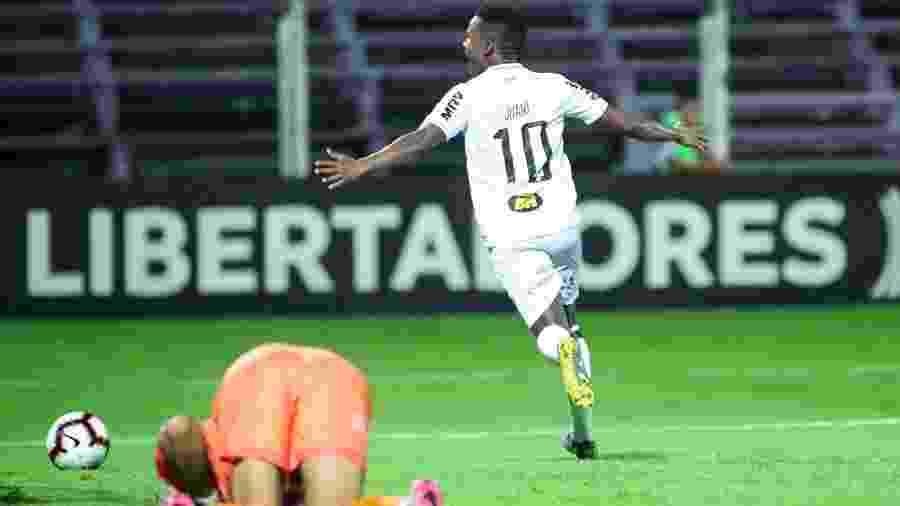 Juan Cazares celebra gol do Atlético-MG sobre o Defensor Sporting - Bruno Cantini/Divulgação/Atlético-MG