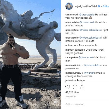 Brasileiros comentam nos posts do Hulk do Irã - Reprodução/Instagram