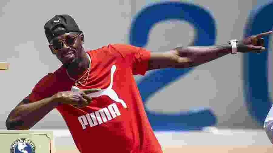 Usain Bolt participa de ação da Puma em Lima, no Peru, para divulgação dos Jogos Pan-Americanos 2019 - ERNESTO BENAVIDES/AFP