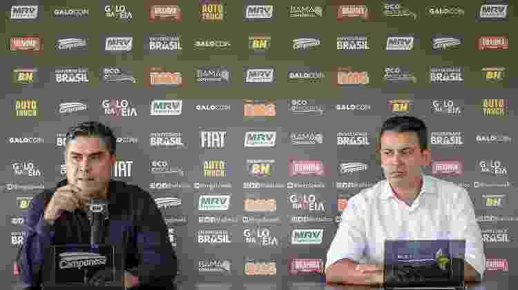 Presidente Sette Câmara (à esquerda) foi quem convidou Rui Costa para o Atlético-MG - Bruno Cantini/Divulgação/Atlético-MG