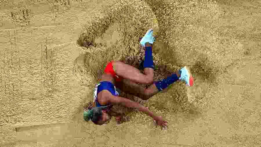 Estrela venezuelana, Yulimar Rojas é campeã mundial no salto triplo e treina na Espanha - Patrick Smith/REMOTE/Getty Images