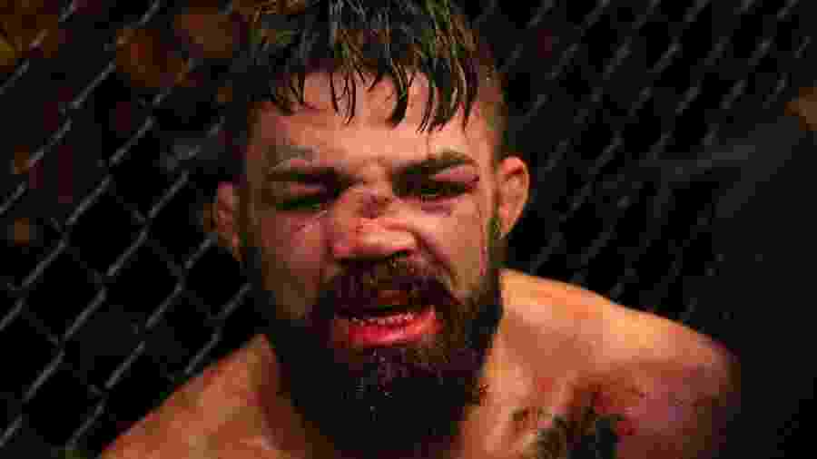 Mike Perry após luta com Vicente Luque UFC Fight Night, no Uruguai -  Alexandre Schneider /Zuffa LLC/Zuffa LLC