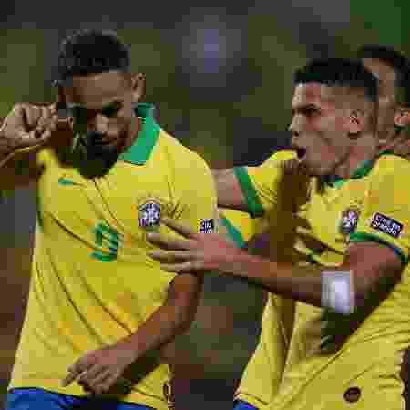 Pré-Olímpico: Matheus Cunha comemora seu gol na partida do Brasil contra a Argentina - REUTERS/Luisa Gonzalez - REUTERS/Luisa Gonzalez