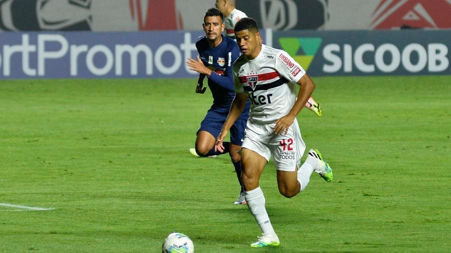 Gabriel Sara retoma a condição de titular do São Paulo para enfrentar o Fortaleza, pela Copa do Brasil 2020 - Bruno Ulivieri/AGIF
