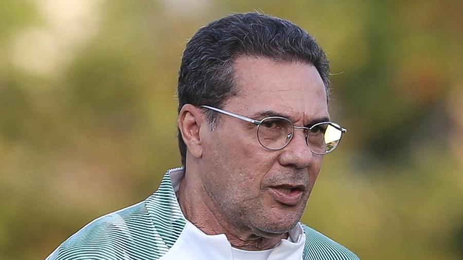 Vanderlei Luxemburgo, durante treino do Palmeiras na Academia de Futebol - Cesar Greco