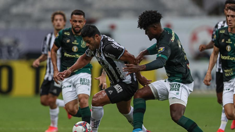 Atacante Hulk, na partida entre Atlético-MG e América-MG, pela final do Mineiro 2021 - Pedro Souza/Atlético-MG