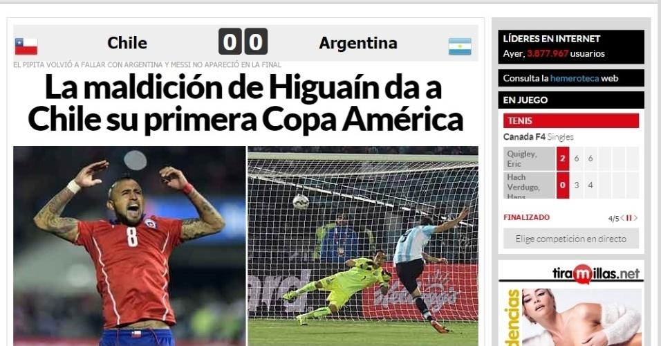 O Marca, da Espanha, deu destaque à