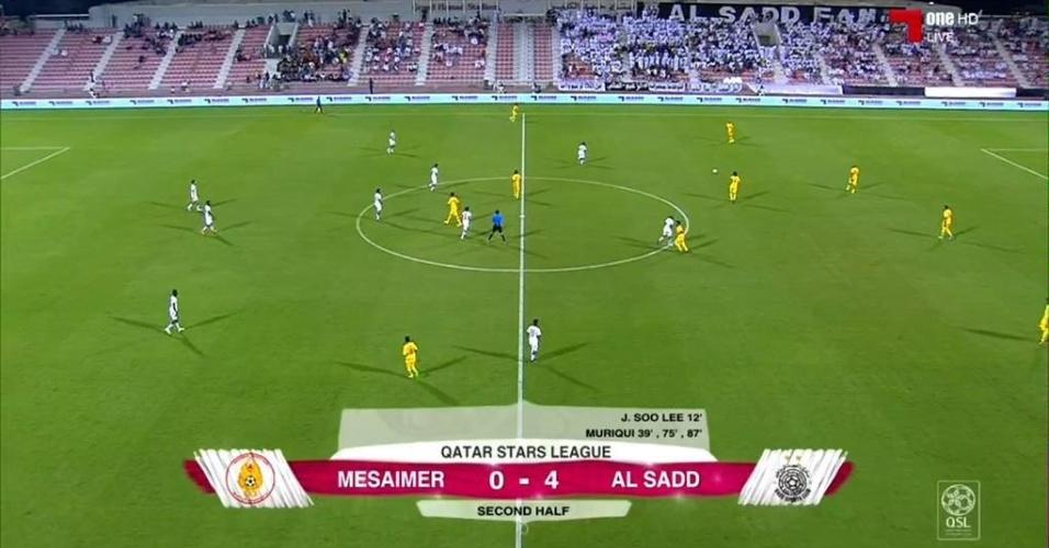 Vitória do Al-Sadd por 4 a 0 na estreia de Xavi; Muriqui marcou três gols
