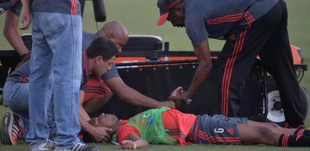 Jorge deu um susto ao cair desacordado em treinamento