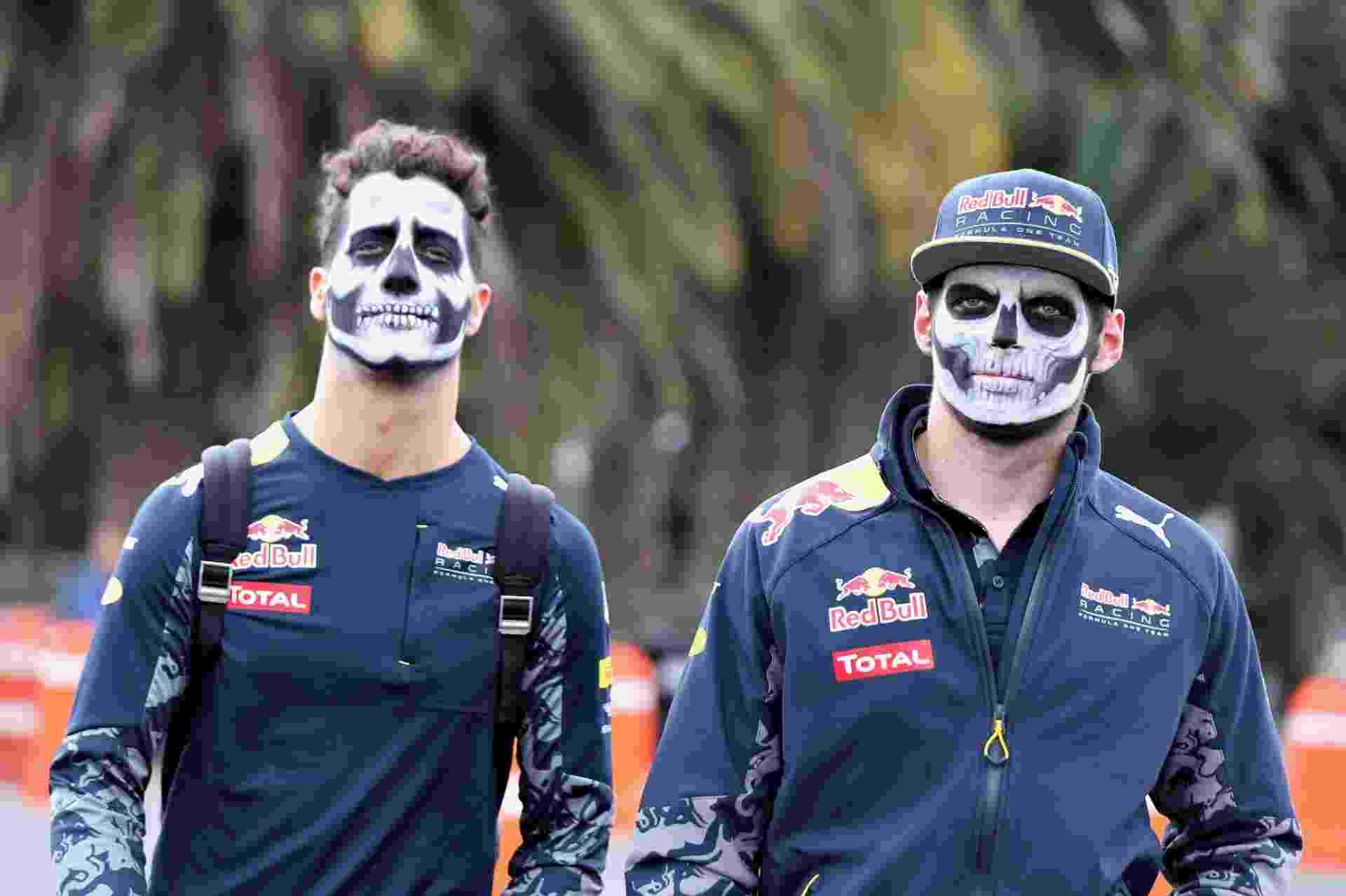 Max Verstappen e Daniel Ricciardo no GP do México - Clive Mason/Getty Images