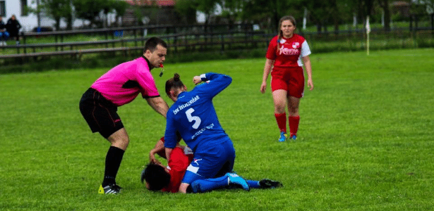 A agressão de Sekacic em Ljubanovic