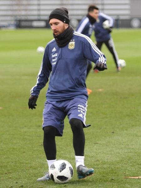 Lionel Messi deve atuar no amistoso desta terça-feira - AFA/Divulgação