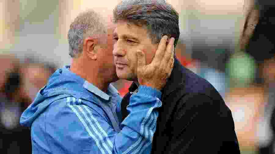Luiz Felipe Scolari, o Felipão, e Renato Gaúcho, já ganharam a Libertadores - Daniel Vorley/AGIF
