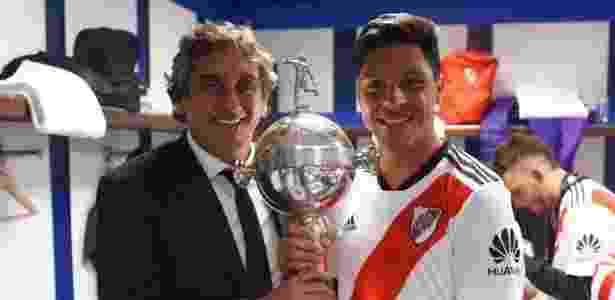enzo perez e enzo francescoli - divulgação/River Plate - divulgação/River Plate