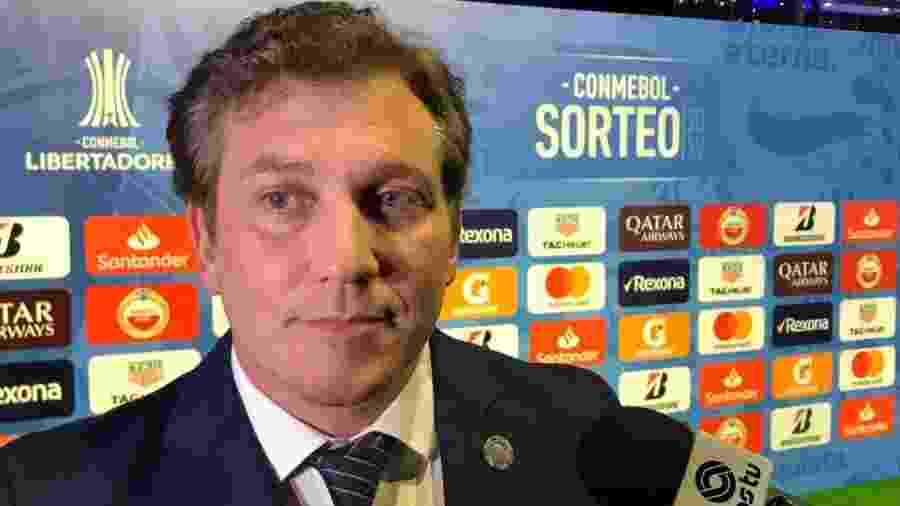 Presidente da Conmebol, Alejandro Dominguez, concede entrevista antes de sorteio da Libertadores e da Copa Sul-Americana - Pedro Ivo Almeida/UOL Esporte