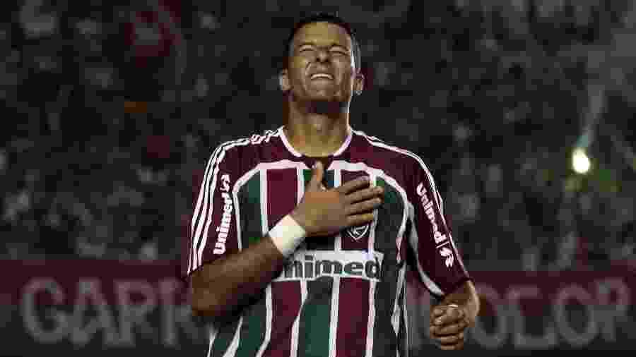 Washington comemora gol pelo Fluminense - Rudy Trindade/Folha Imagem