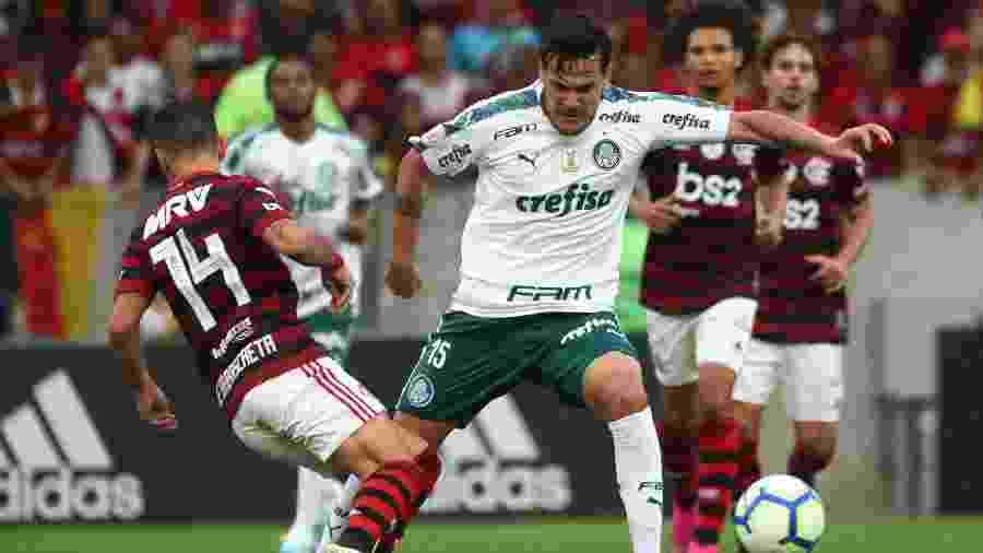 Palmeiras e Flamengo voltam a se enfrentar, desta vez no Allianz Parque, amanhã - REUTERS/Pilar Olivares