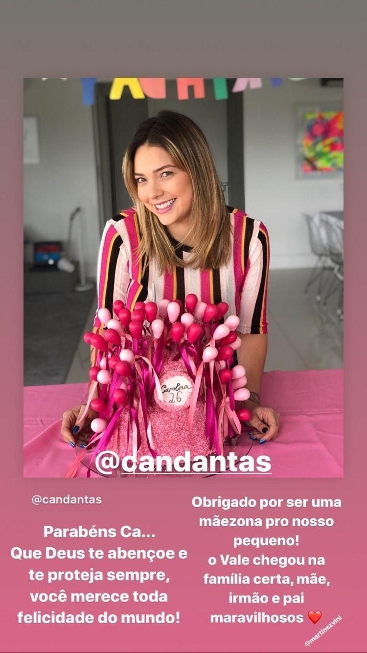 Neymar parabenizou a ex, Carol Dantas, mãe de seu filho, Davi Lucca
