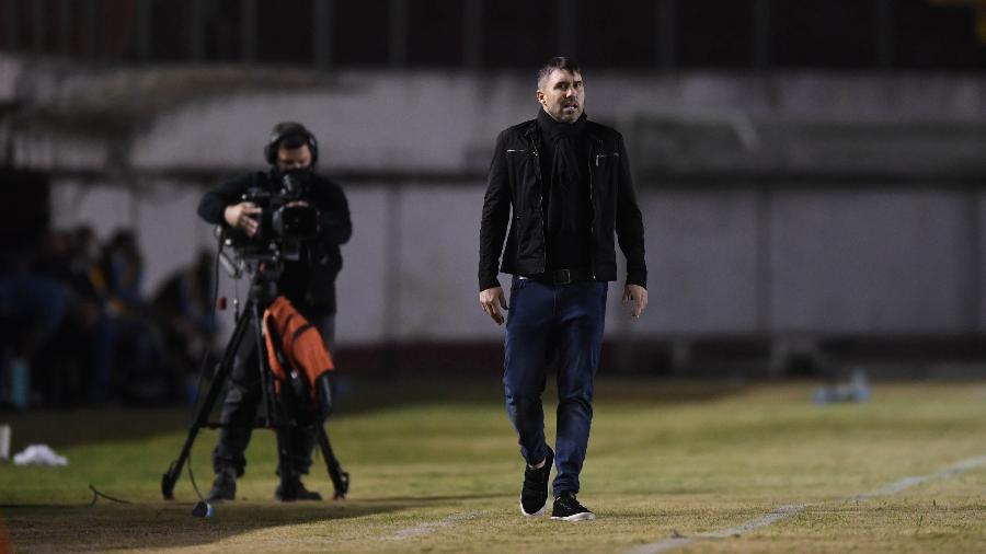 Eduardo Coudet, técnico do Inter, durante clássico contra o Grêmio - Ricardo Duarte/SC Internacional