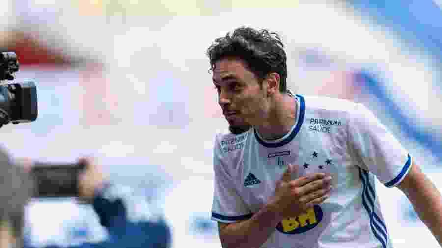 Meio-campista, Mauricio é o artilheiro celeste em 2020, com quatro gols - Bruno Haddad/Cruzeiro
