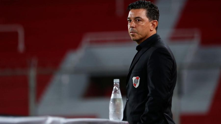 Técnico mais vitorioso da América do Sul na última década, Marcelo Gallardo apareceu na mira do São Paulo - Efe