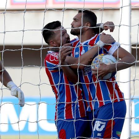 Gilberto marcou quatro gols na partida contra o Altos, pelo Nordestão - Felipe Oliveira / EC Bahia