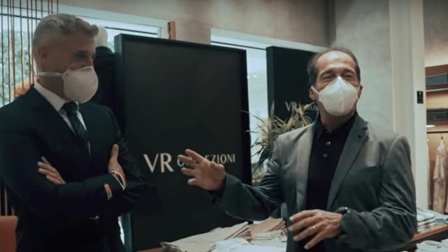 Crespo e Muricy de terno em vídeo do São Paulo - Reprodução