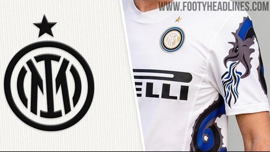 Suposta nova camisa reserva da Inter de Milão para 2021-2022 terá desenho de cobra, lembrando modelo usado em 2010-2011 - Reprodução: footyheadlines.com