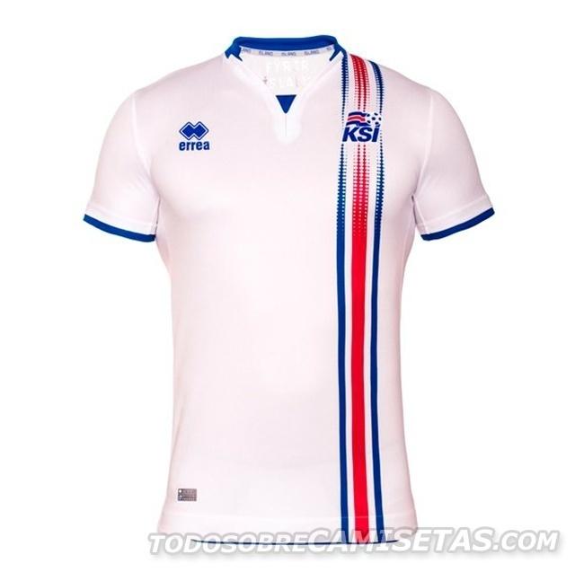 GRUPO F: Islândia (camisa reserva, Erreà)