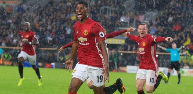 Rashford é reserva do United, mas já tem dois gols na temporada