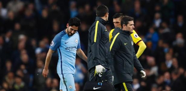 Gündogan se lesionou contra o Watford