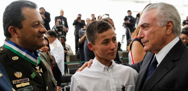 Johan Alexis Ramírez foi um dos homenageados em cerimônia no Planalto